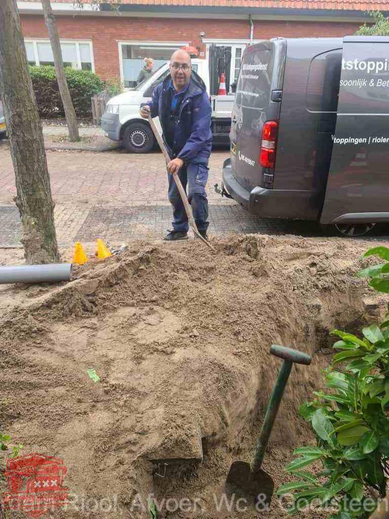 Riool ontstoppen Amsterdam graven