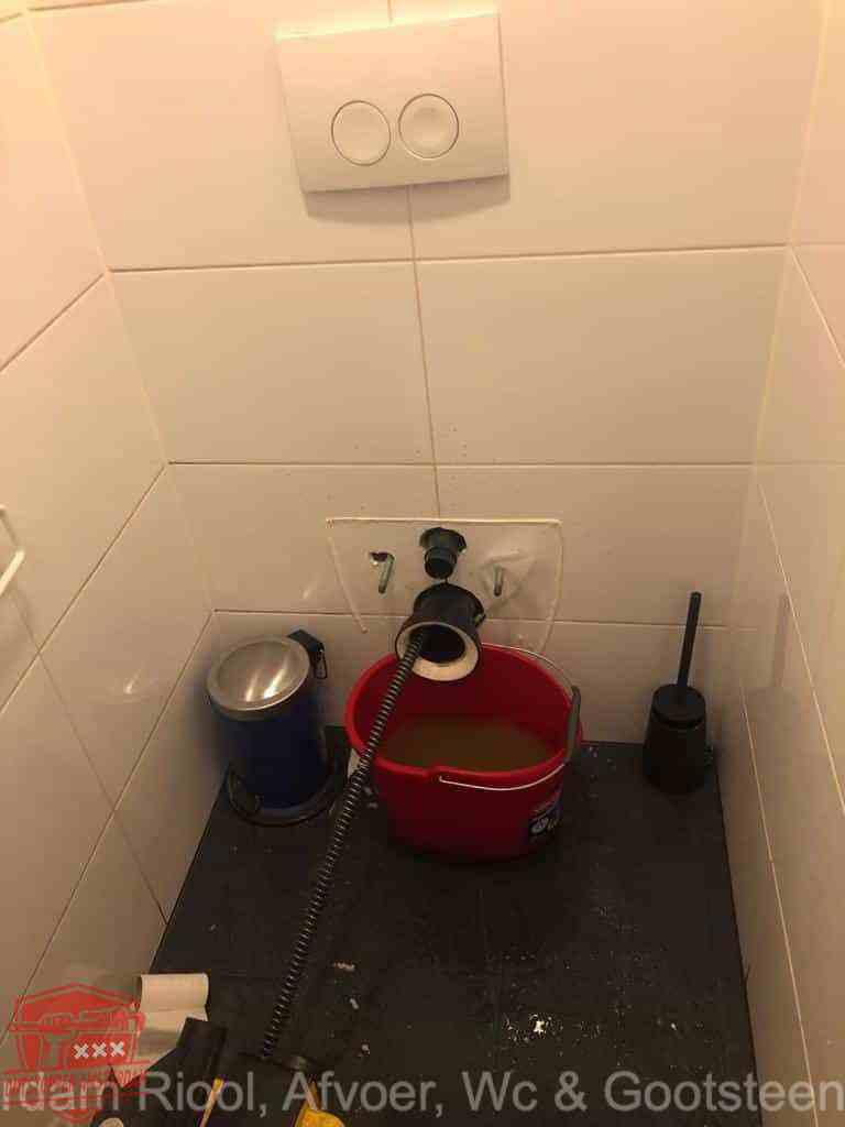 WC verstopt Amsterdam